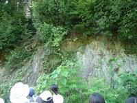 あそこが泥岩で ここが砂岩で・・・・・
