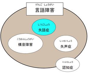 図1 失語症は言語障害のひとつ