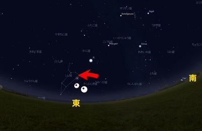 真夜中の東方の空