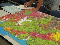 山陰地方の地質模型